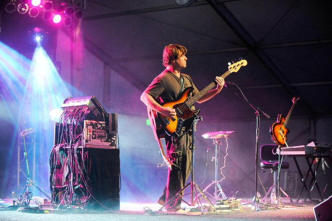 Keller Williams performs Friday night during a Ski Jam concert at the Steamboat Music Tent in the Knoll Parking Lot.