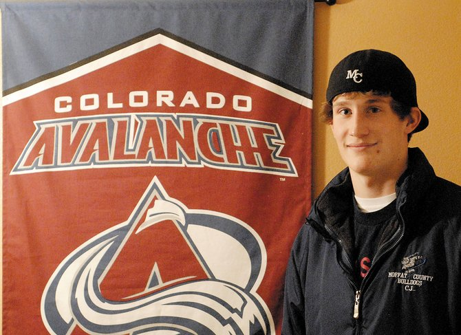 CJ Walt was recently selected to join the Colorado Avalanche hockey team on the ice during a Feb. 12 game against the Phoenix Coyotes. Walt, a Moffat County High School junior, is captain of the Moffat County Bulldogs midget hockey team.