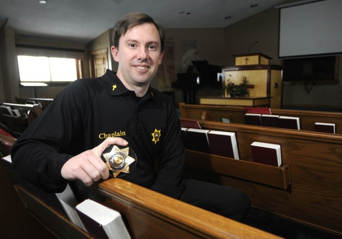 In November, First Baptist Church pastor Jason Clark took over the volunteer job of chaplain for the Routt County Sheriff's Office. The job includes counseling family members after a tragedy, as well as deputies.