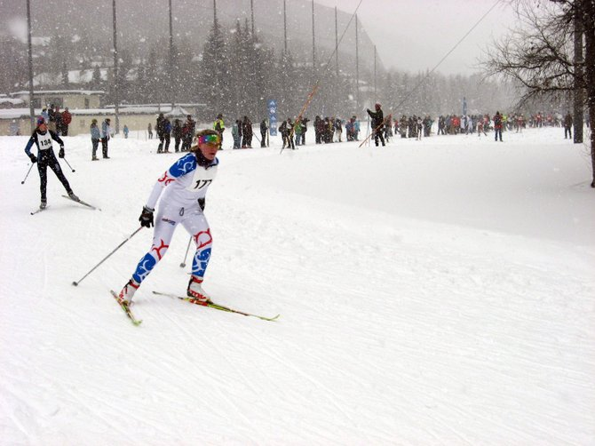 Mallory Hoots came in 17th place in the women's overall during the Vail Dualthon Nordic race Sunday.