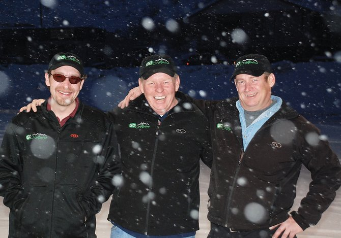 Go Alpine taxi drivers Chris Lohmann, from left, Jim McVeigh and Jeff Hall, of Steamboat Springs, leave Wednesday for the long drive to Vancouver, British Columbia, where they will serve as shuttle drivers for spectators and athletes at the 2010 Winter Olympics. They arent scheduled to return until March 2.