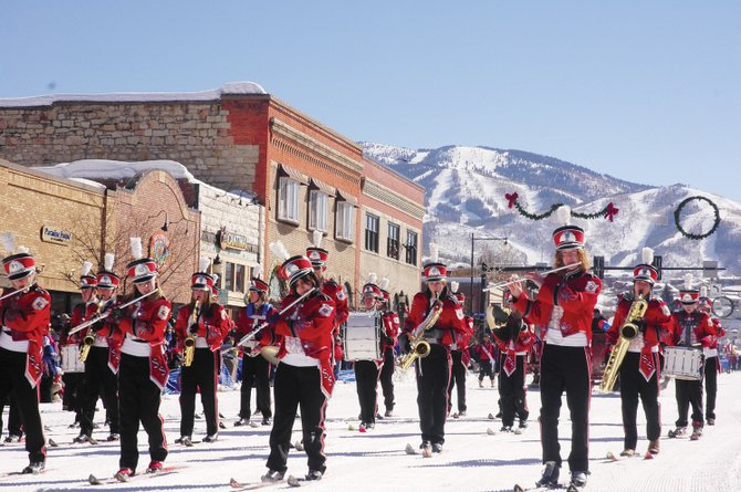 The Steamboat Springs High School Ski Band has performed during the Winter Carnival since 1935. This year, the band will be wearing ski jackets provided by BAP and cowboy hats from F.M. Light & Sons, which were provided for the first time in 2009.