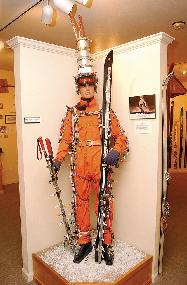A mannequin inside the Tread of Pioneers Museum, 800 Oak St., portrays the Lighted Man. 