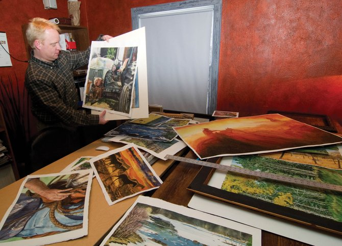Local artist Greg Effinger goes through some of his work that will be shown as part of his show at the Depot Art Center throughout February. Effinger has been recording life and the surroundings in the Yampa Valley for more than a decade as a professional watercolor artist.