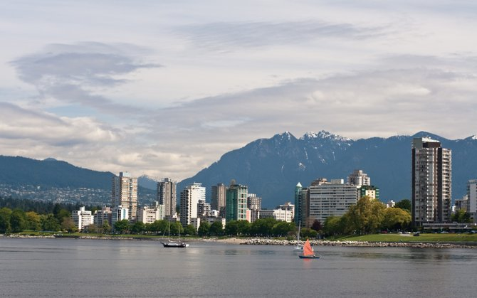 The Vancouver, British Columbia, skyline.