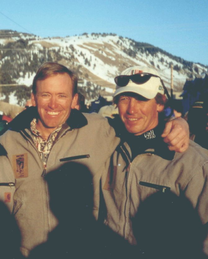 Former U.S. Ski Team teammates Jace Romick, of Steamboat Springs, left, and 1984 gold medalist Bill Johnson last reunited in 2000 in Jackson, Wyo.