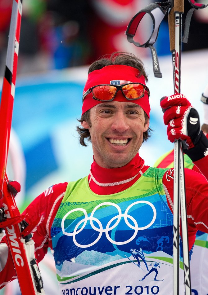 Johnny Spillane moved from fourth place to second during the cross-country portion of Sunday's Nordic combined event to take the silver medal, making him the first American to ever medal in Nordic combined at the Olympics.