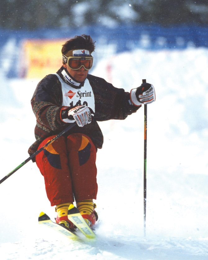 Steamboat Springs resident Nelson Carmichael competes during the Spring Bumps & Jumps competition in Breckenridge in 1996. Carmichael became the first Coloradan to medal in freestyle skiing when he won bronze in moguls at the 1992 Winter Olympics.