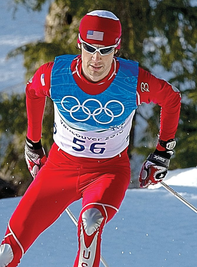 Steamboat Springs' Johnny Spillane trains on the cross-country course during the weekend in a training session at Whistler Olympic Park in Whistler, British Columbia.