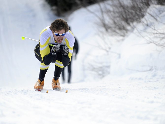 University of Colorado at Boulder sophomore Ian Mallams keeps his speed during Friday's NCAA regional 10-kilometer classic cross-country event at Howelsen Hill. Mallams lived in Steamboat Springs during the 2007-08 season and trained with the Steamboat Springs Winter Sports Club.