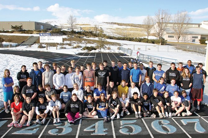 The Moffat County High School track and field team has more than 60 athletes this season. The team opened its season March 5 in Grand Junction.