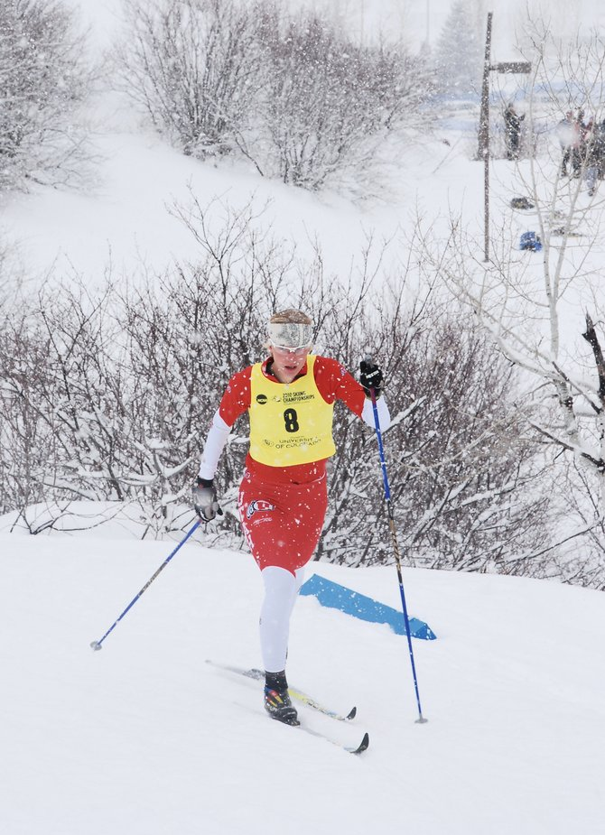 Steamboat Springs Winter Sports Club alum and current University of Utah skier Sarah MacCarthy took part in the classic cross-country event  Thursday at the NCAA Skiing Championships at Howelsen Hill.