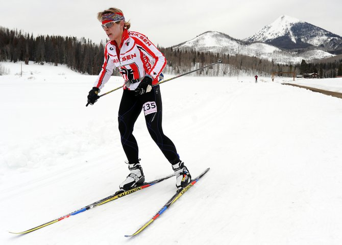 Steamboat Springs skier Katie Lindquist skis in the 2010 North Routt Coureur des Bois cross-country ski race.