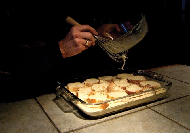 Roberta Gill's crème brûleé French toast