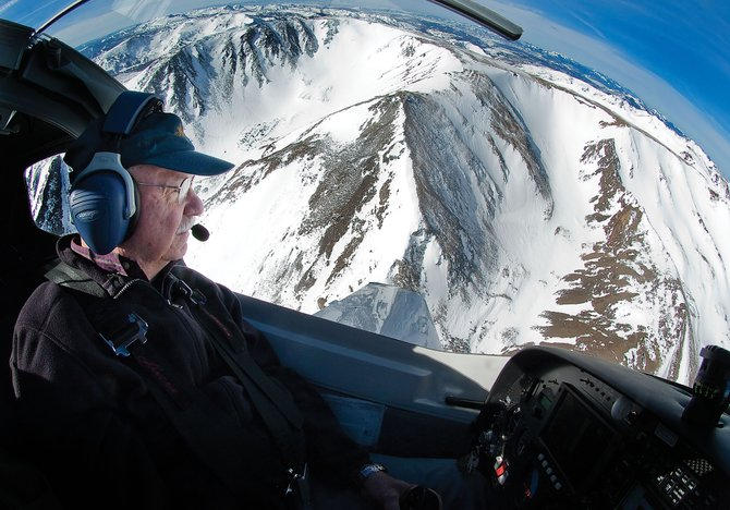 Local pilot Jack Dysart flies his plane over the rugged mountain peaks of North Routt County and the Zirkel Wilderness Area. Dysart built the Lancair 360 in about 10 years.