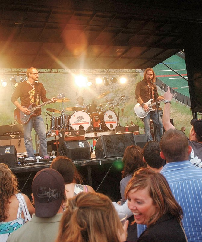 Cross Canadian Ragweed performs in August 2008 during the Free Summer Concert Series at Howelsen Hill.               