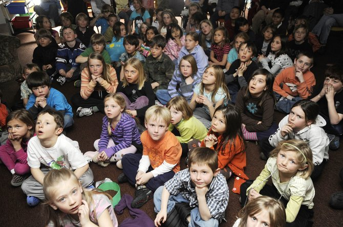 Third-graders watch a presentation Friday at Strawberry Park Elementary School. The Steamboat Springs School District's preliminary revenue budget for 2010-11 includes a nearly $20.1 million general fund. It's more than $1.6 million, or about 7.5 percent, less than this school year's general fund budget.
