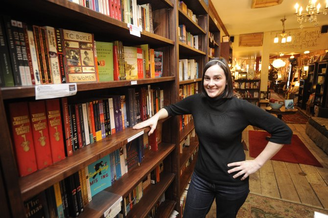 Epilogue Book Co. owner Erica Fogue is one of two local independent bookstore owners who know the industry is changing dramatically because of online sales of physical books and electronic books.