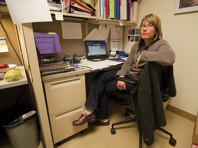 "Kim Boyce, a physician's assistant at the Steamboat Springs Visiting Nurse Association office who also works at a private practice in Craig, said she sees 80 to 100 patients per month in Steamboat, while working just two days a week here. ""Probably 98 percent of them do not have health insurance,"" Boyce said Monday."