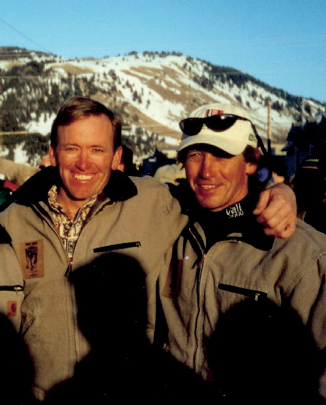 Former U.S. Ski Team teammates Jace Romick, of Steamboat Springs, left, and 1984 gold medalist Bill Johnson last reunited in 2000 in Jackson, Wyo. Romick is working to raise money for Johnson, who is struggling with disabilities.