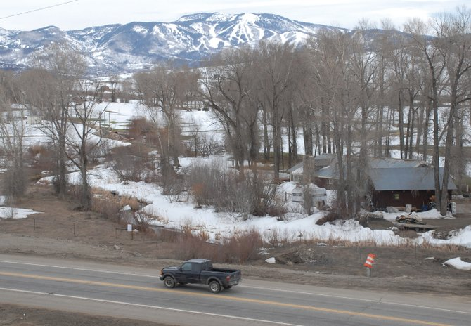 The Routt County Board of Commissioners is scheduled April 13 to review a tentative plan to build a convenience store and seven townhomes on 2.86 acres south of U.S. Highway 40 west of town. The site is tucked between the Heritage Park soccer field and the Steamboat Golf Club.