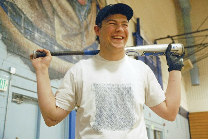 Austin Sadvar, a Moffat County High School senior, thought he would never be able to play baseball again following his second elbow surgery in August 2009. With help from his dad, physical therapist Rich Sadvar, Austin has been able to return to the diamond for his final year of high school baseball.