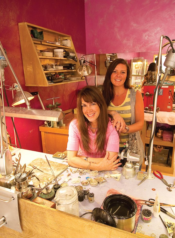 Master jeweler Angela Mecca, front, opened The Jewelers Mine in downtown Steamboat Springs earlier this winter. Mecca and watch specialist Amy Guear are hoping to offer Steamboat Springs a full-time Jewelry store that specializes in custom designs and repairs.