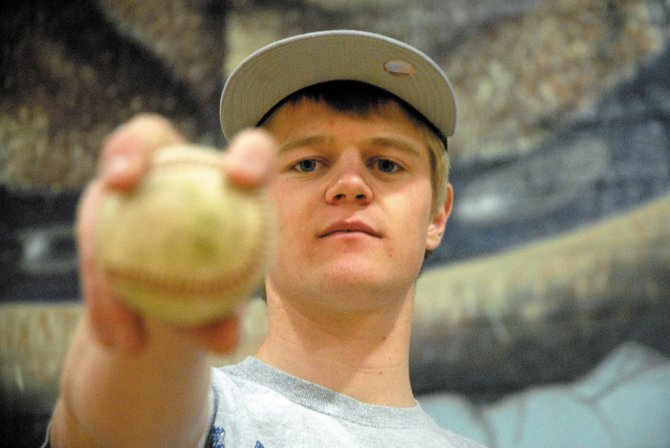 Senior Nathan Hill is half of the Moffat County High School boys varsity baseball team's one-two punch atop the pitching rotation, along with Hayden's Ben Williams. The combo of Hill and Williams will have plenty of support behind them, as Halen Raymond, Bubba Ivers, Mark Doolin and Ivan Nielsen contribute to a strong overall pitching staff.