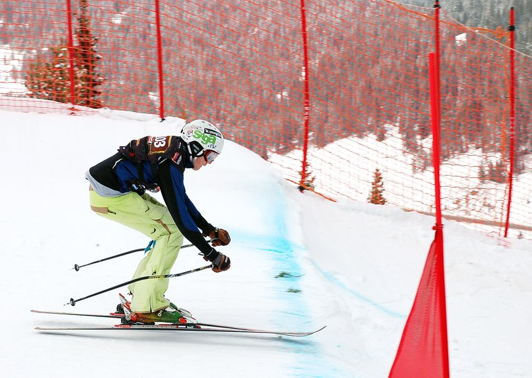 Steamboat's Penn Lukens skis Wednesday in the ski cross event at the USASA National Championships at Copper Mountain. Lukens qualified in second place and won each heat he raced in, claiming the championship.