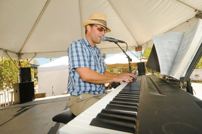 Local jazz pianist Andy Pratt performs Aug. 22, 2009, at the inaugural Steamboat All Arts Festival.