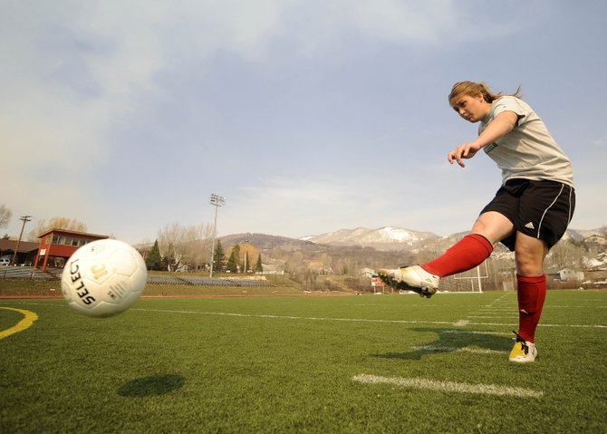 Steamboat Springs High School senior Emi Birch has spent years perfecting her free kicks. The direct kick can be a devastating weapon for a soccer team.
