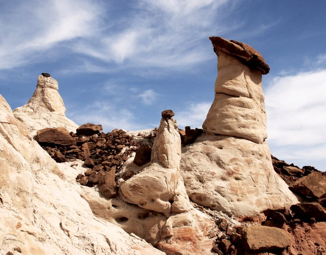 The Grand Staircase Escalante National Monument toadstools are geologic formations found close to the Utah/Arizona border.