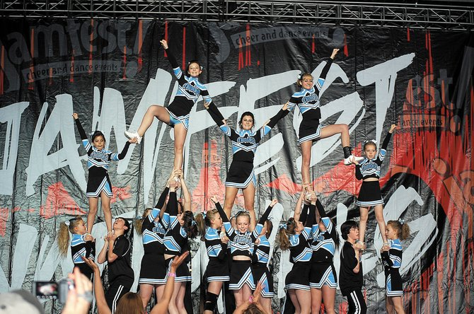 The Moffat County Thunder Competitive All-Star Cheerleading Program finished fifth at the April 10 and 11 Jamfest in Las Vegas. The Thunder was the only team from Colorado to compete at the national event.