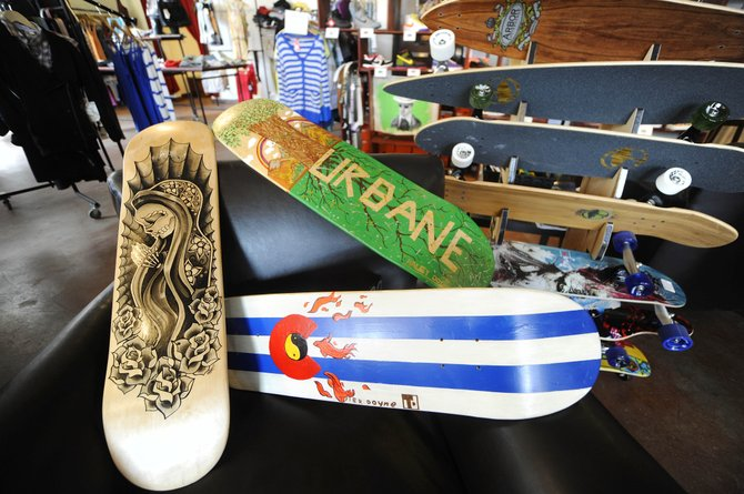 Urbane hosts the second annual Skate Deck Art Show from 5 to 9 p.m. May 7, as part of the First Friday Artwalk.