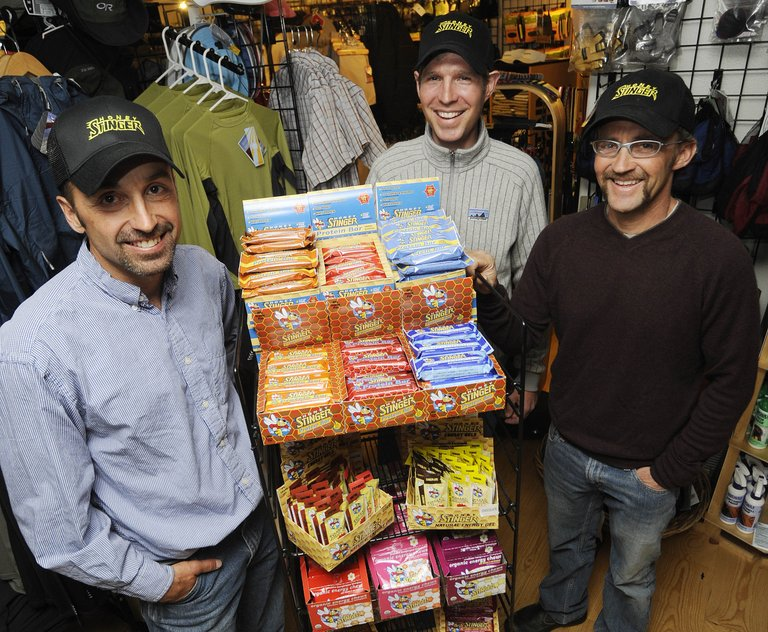 Honey Stinger owners, from left, Rich Hager, Len Zanni and Bill Gamber have teamed up with Seven-time Tour de France champion Lance Armstrong to grow the Steamboat Springs-based energy food company.