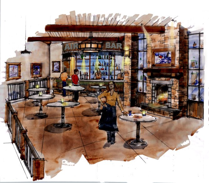 The new restaurant space at Yampa Valley Regional Airport is due to be complete in mid-2011. Airport Manager Dave Ruppel said the actual space is larger than it appears in this architectural rendering.