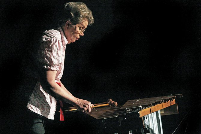 Joyce Cattoor plays the marimba during the Craig Concert Association's Local Talent Show on Saturday at the Moffat County High School auditorium. Cattoor was given the marimba from her father on her fifth birthday.