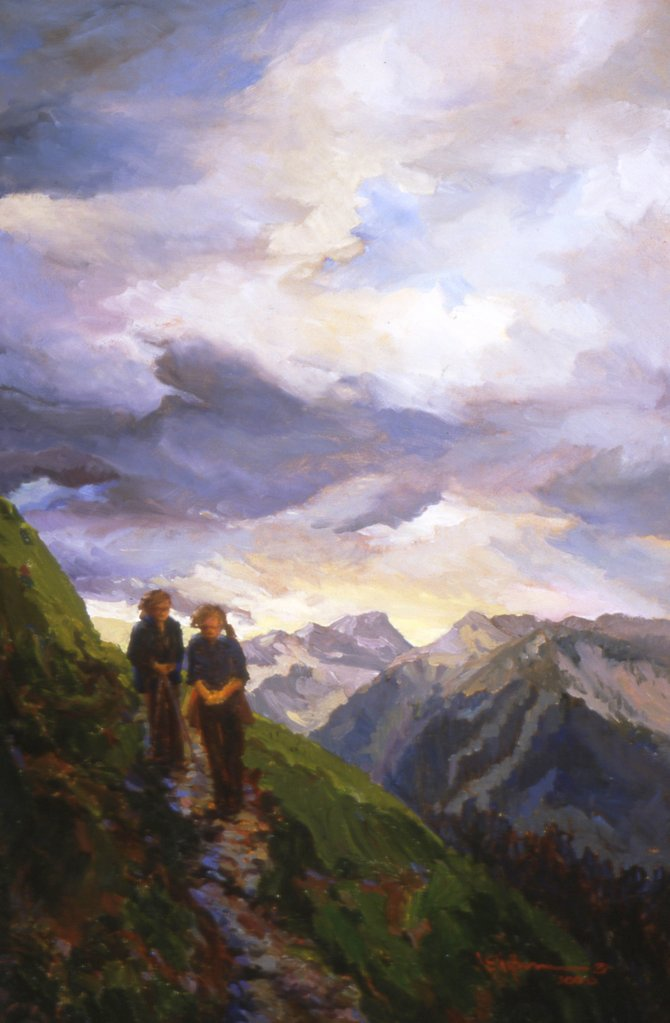 "Artist Joan Hoffmann, who has maintained longstanding ties to Steamboat Springs, will give a free talk and slide show of her oil paintings at 7 p.m. today in Library Hall at the Bud Werner Memorial Library. Hoffmann will engage her audience in a conversation on the maturation of American landscape painting and in particular the role the art form has played in conserving public lands in the West. This image is titled ""Colorado Trail."""