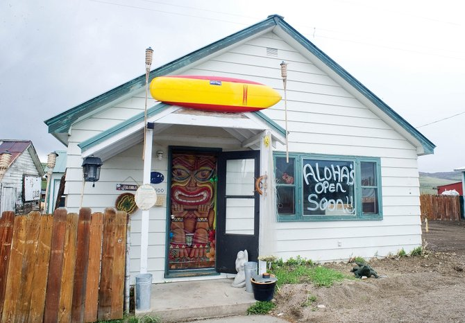 The message in the front window of Aloha's, a medical marijuana dispensary, is optimistic about an opening in the near future. Entrepreneur Chris Ward got tentative approval from the Routt County Planning Commission to open a medical marijuana dispensary in Milner after certain conditions are met.