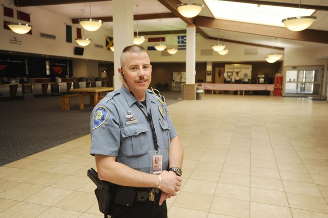 Hayden Police Department Officer Ed Corriveau will be awarded by the Transportation Security Administration for his work at Yampa Valley Regional Airport.