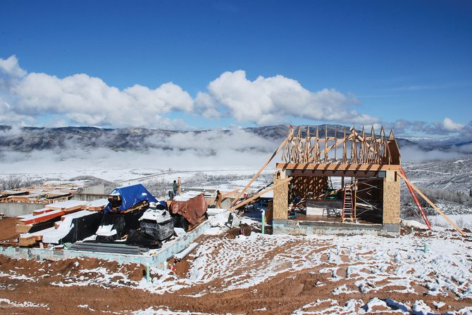 Construction is under way on the first resident-owned home at Alpine Mountain Ranch, just south of Steamboat Springs. The developers also have begun framing a market home that is for sale.