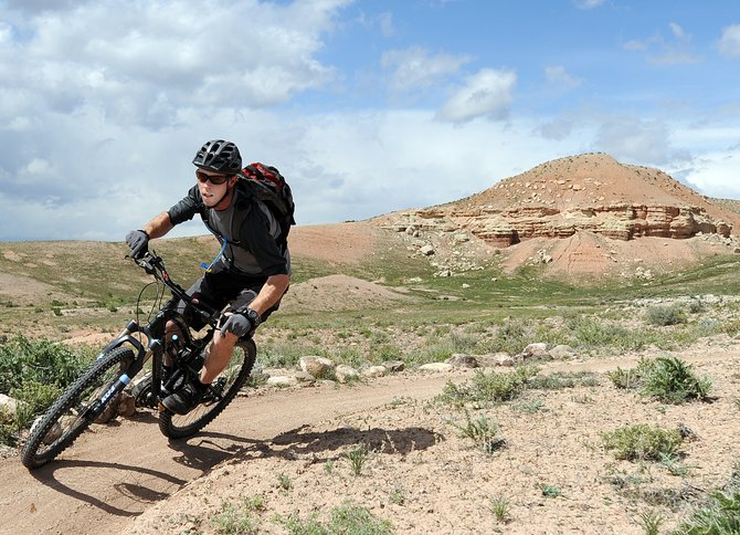 Nick Van Horn, of Bozeman, Mont., rides on the Milk and Cookies mountain bike trail near Vernal, Utah. The areas trails arent as popular as those in other biking hot spots like Fruita or Moab. Theyre not as well developed, either. But they offer a similar experience for Steamboat residents looking to escape the doldrums of a rainy May.
