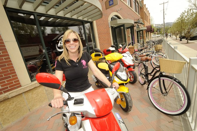 Kimmie's Kruisers co-owner Kim McCullough wanted to bring something new and fun to downtown Steamboat Springs. The business on Yampa Street is offering scooter and cruiser bike rentals daily and by the hour.