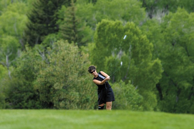 A golfer participates in the Hospice Celebration of Life tournament in 2009. This is the 17th year for the dinner and golf event, which raises funds for hospice and bereavement programs in Routt and Moffat counties. 