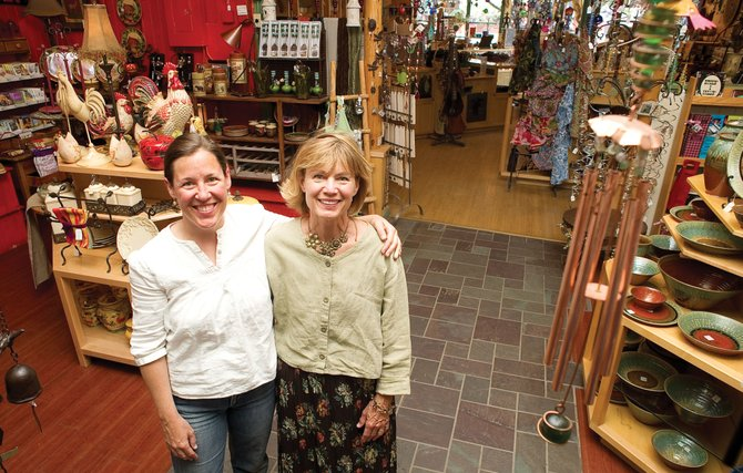 Melinda Miller, right, and Ashley Edinburg, owners of Embell­ishments, closed on the purchase of the Steamboat Art Co. on Tuesday and are working to put their own spin on the downtown store.