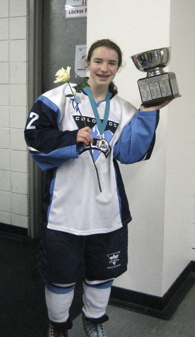 Emily Harris, who will be a freshman at Soroco High School next year, recently was invited to one of the top national hockey camps in Rochester, N.Y. Harris spent most of the past year playing for a boys Midget A hockey team in Vail and for the Colorado Select Girls U-14 AAA team in Denver.
