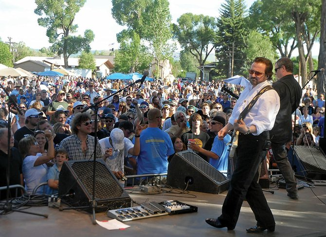 Buck Dharma and the rest of Blue Oyster Cult perform Saturday during a free concert at Craig City Park. Dharma is the lead guitarist and an original member of the band since 1967.