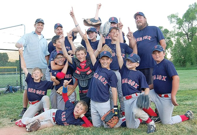 The Red Sox posted the best record in the major league division of the Steamboat Springs Little League at 11-2. The team was coached by Shawn Sullivan, David Reese, Phil Pagliaro and Brian Kratz. Players were Sean Patten, Max Volmer, Cannon Reese, David Brown, Nick Pagliaro, John Zalesky, Bryce Sullivan, Zephyr Lacey, Nolan Sankey, Ethan Cosgrove, David Cropper and Lance Andrews (not pictured).