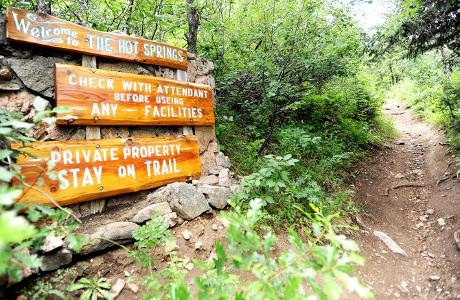 The Hot Springs Trail provides a not-so-difficult way to access the the popular Strawberry Park Hot Springs in the mountains above Steamboat Springs.