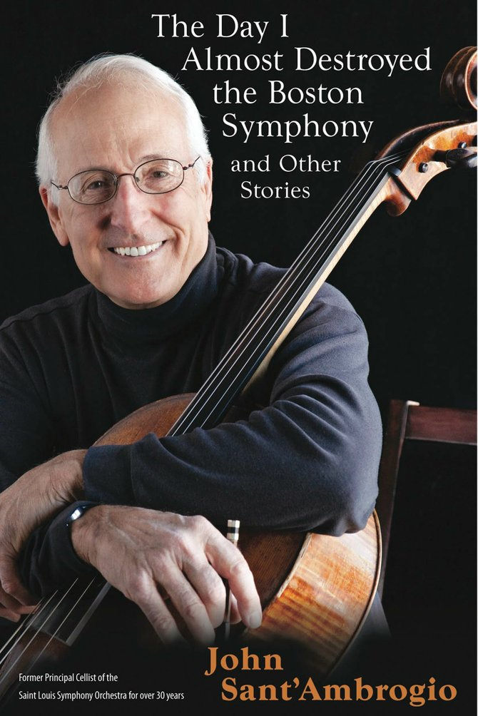 "John Sant'Ambrogio will tell several stories from his recently released book, ""The Day I Almost Destroyed the Boston Symphony,"" while accompanying himself on the cello at Epilogue Book Company at 7 p.m. Thursday."
